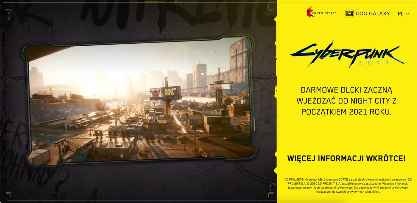 zrzut ekranu strony cyberpunk 2077
