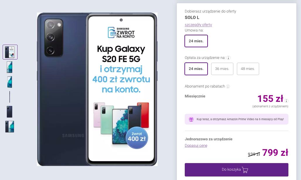 Play Samsung Galaxy S20 FE 5G