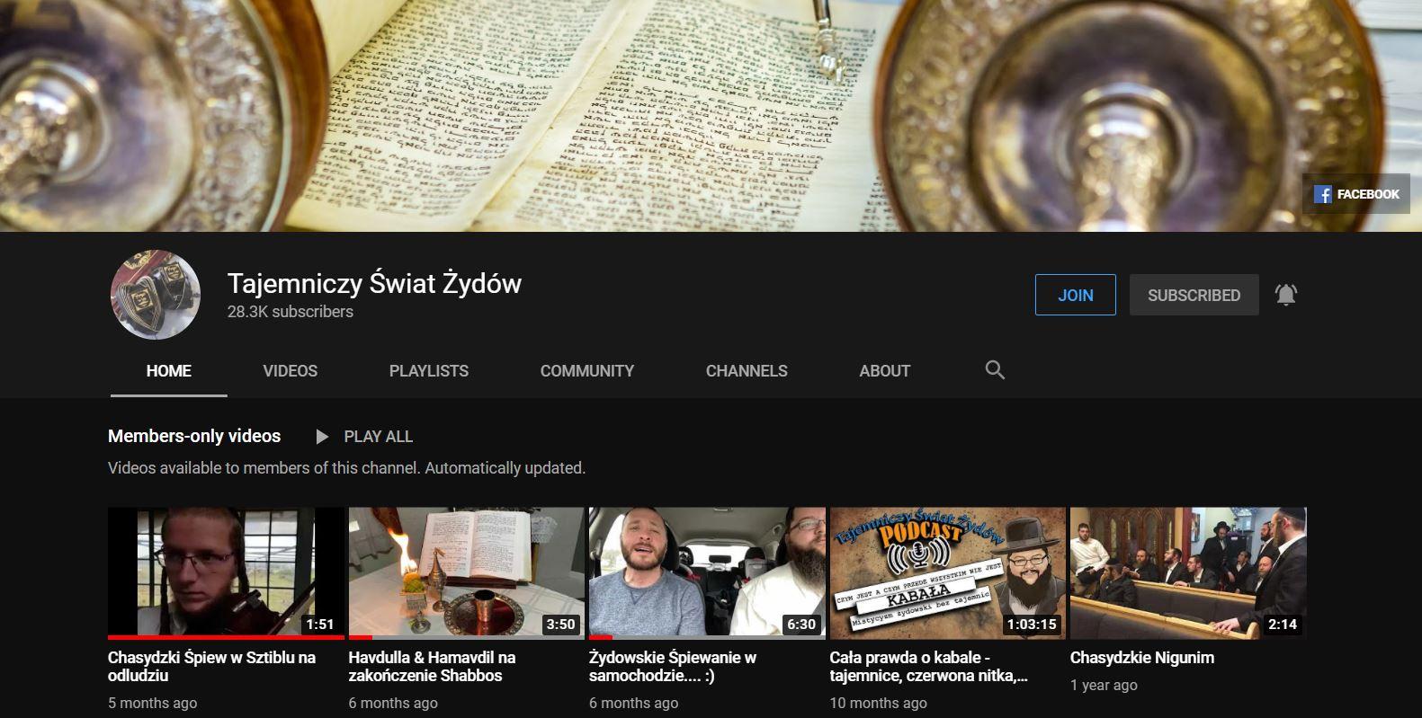 YouTube - tajemniczy świat żydów, kanał