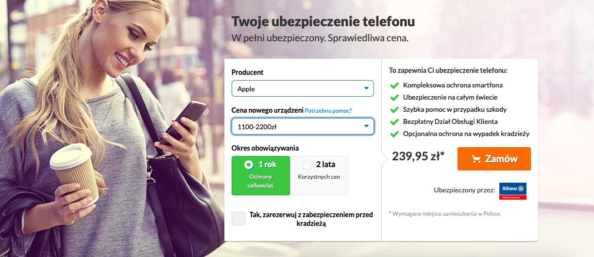 Simplesurance - ubezpieczenie telefonu
