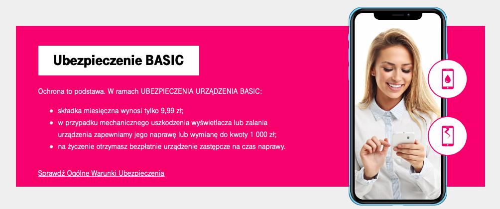T-Mobile - ubezpieczenie telefonu Basic
