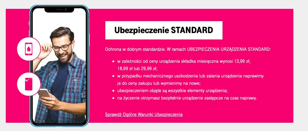 T-Mobile - ubezpieczenie telefonu Standard