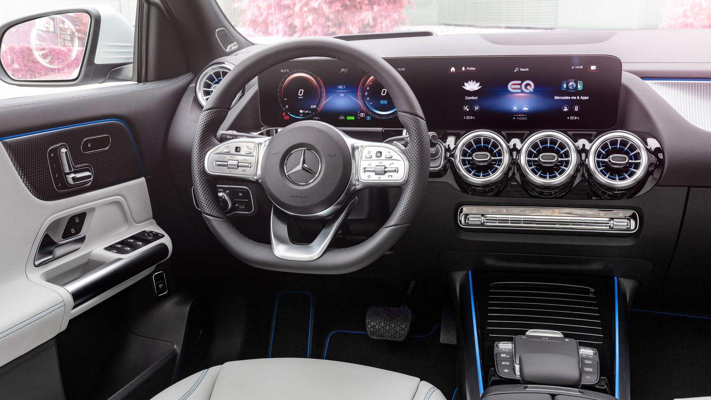 Mercedes EQA wnętrze