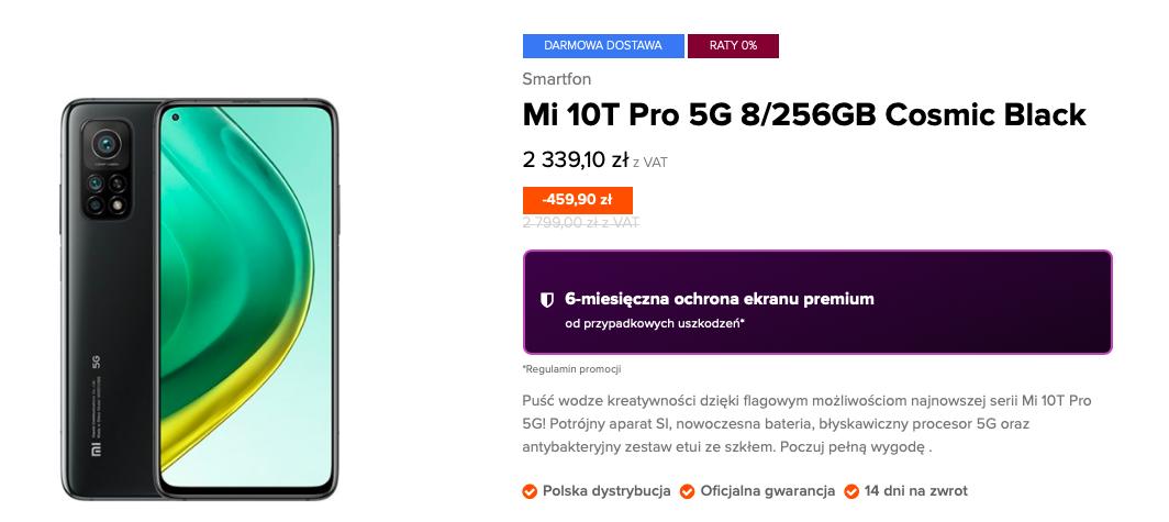 Xiaomi Mi 10T Pro 5G 8/256GB w sklepie Xiaomi