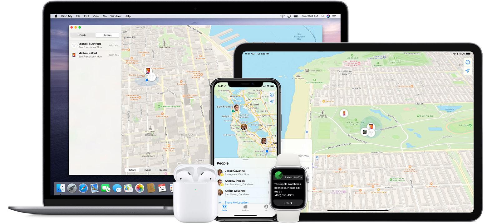 aplikacja lokalizator na urządzeniach Apple