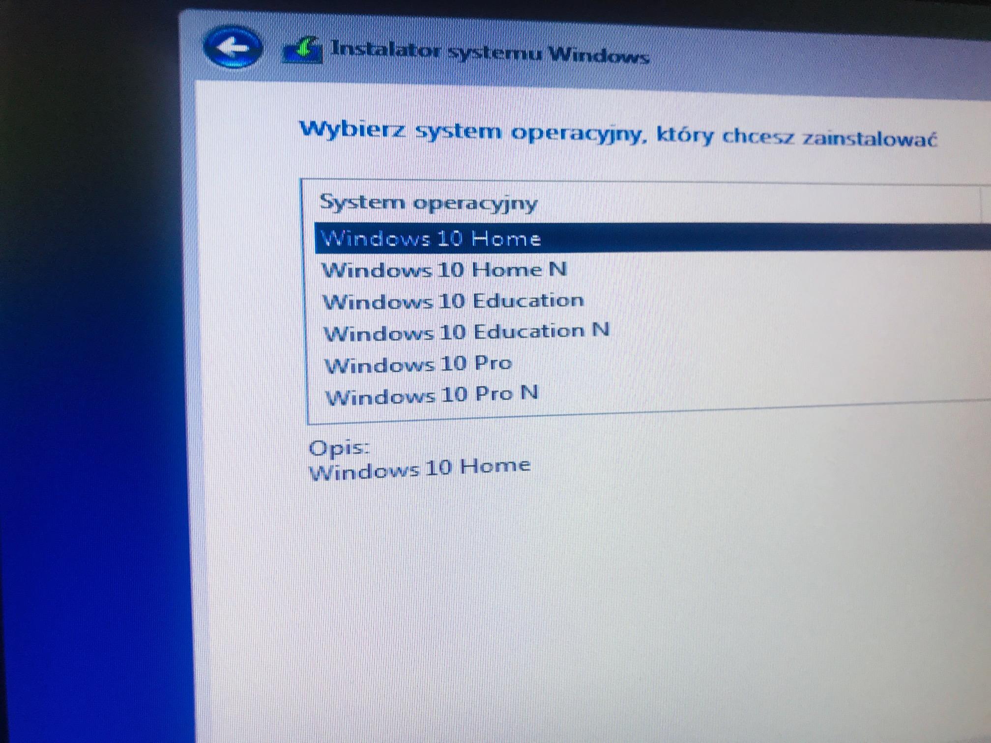 czysta instalacja windows 10
