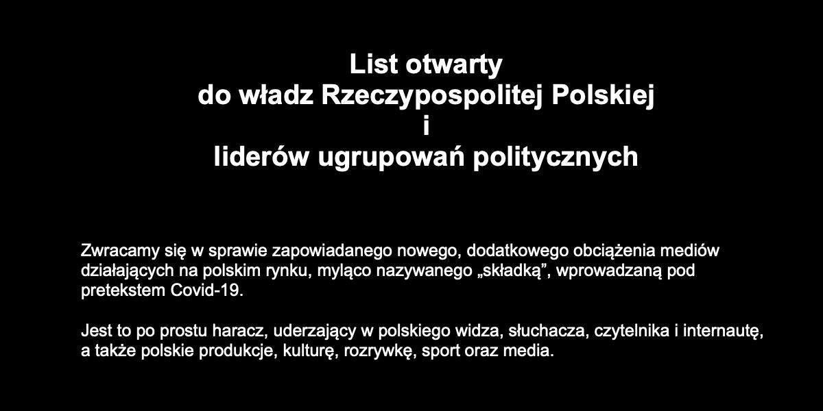 grafika list do rządu