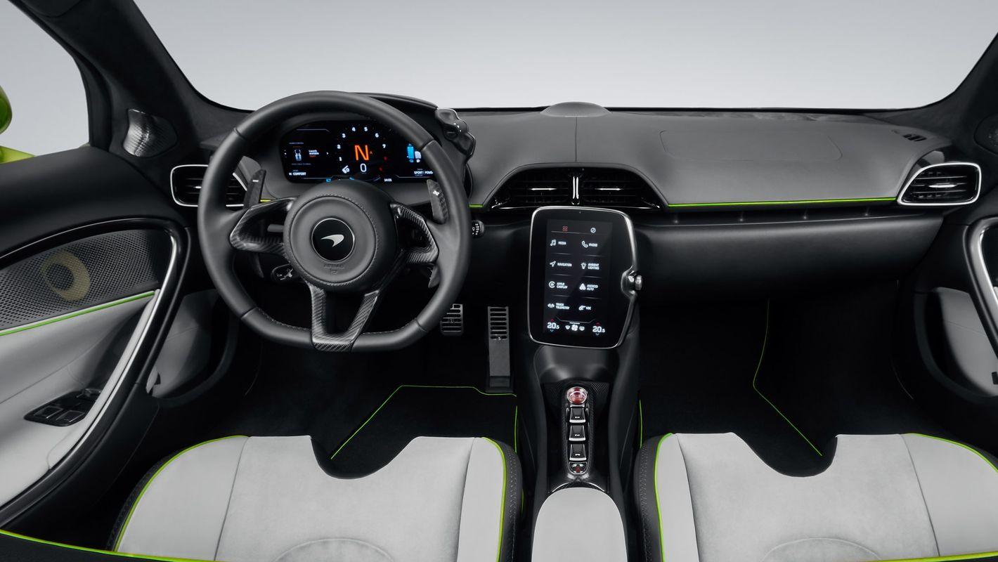 McLaren Artura wnętrze