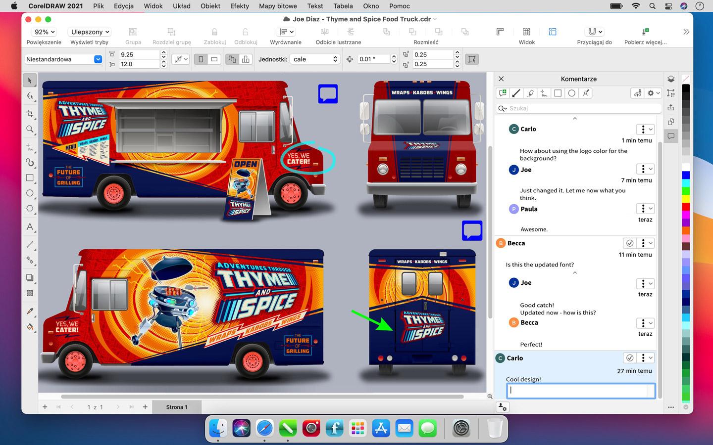 zrzut ekranu z aplikacji CorelDRAW Graphics Suite 2021