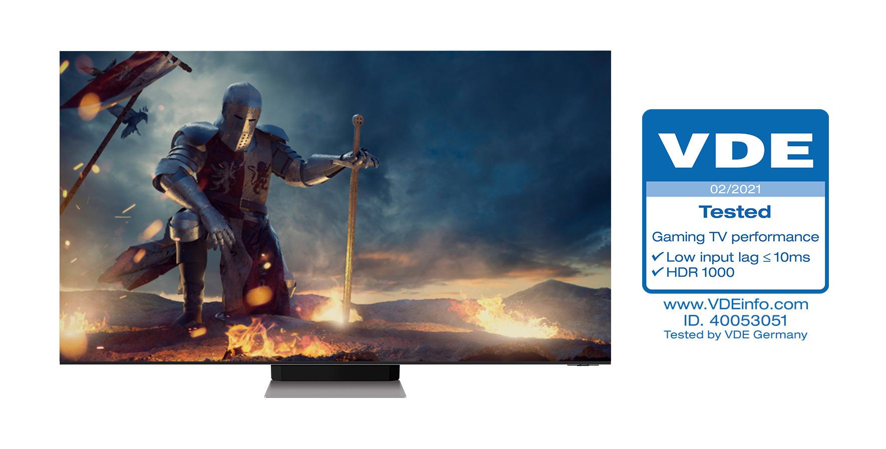 telewizor Samsung Neo QLED z certyfikatem VDE