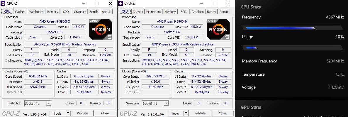 ASUS ROG Strix Scar 17 G733 CPUZ