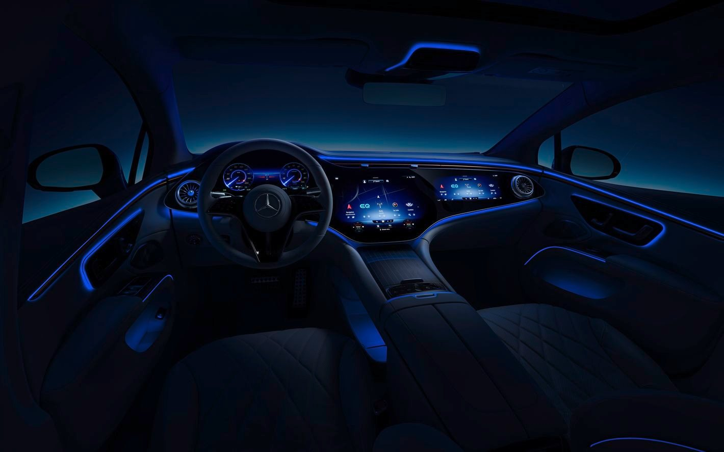 Mercedes EQS oświetlenie wnętrza