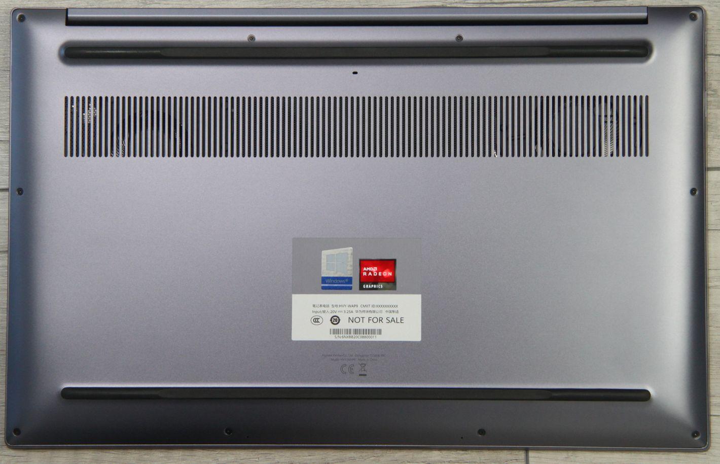 Huawei Matebook D 16 spód