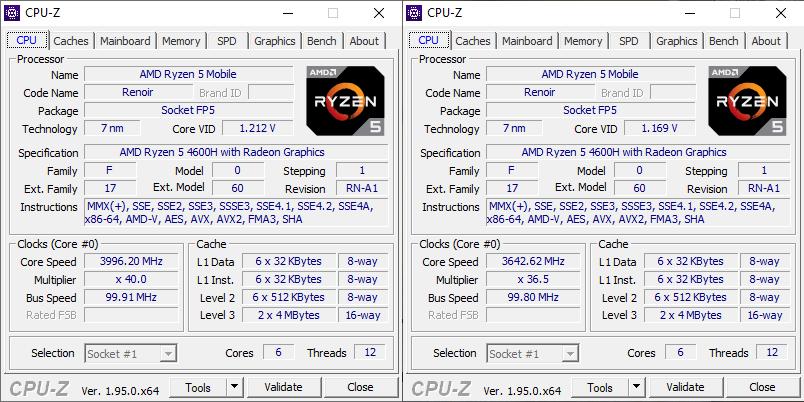 Huawei Matebook D 16 CPUZ