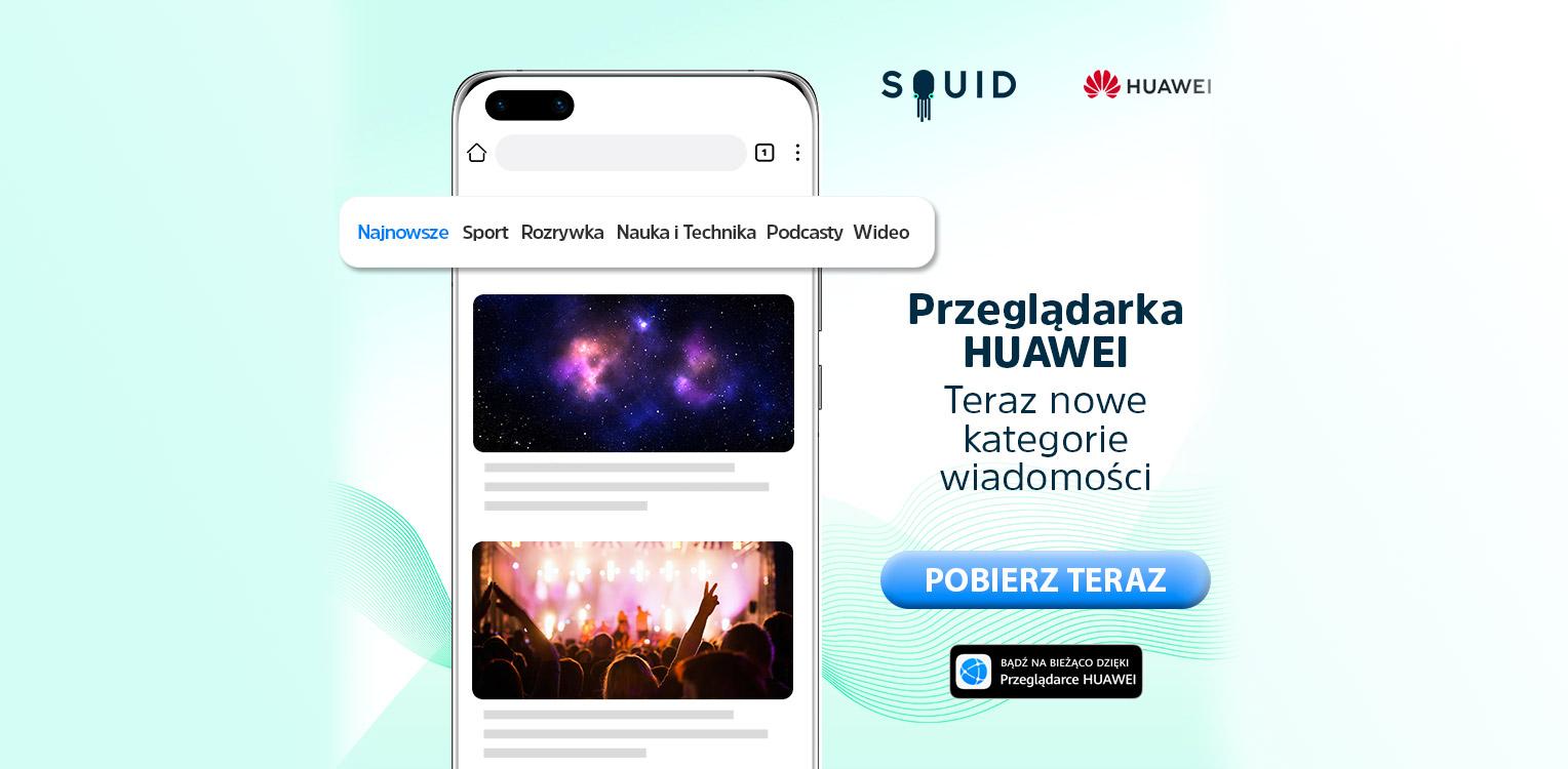 SQUID w przeglądarce Huawei