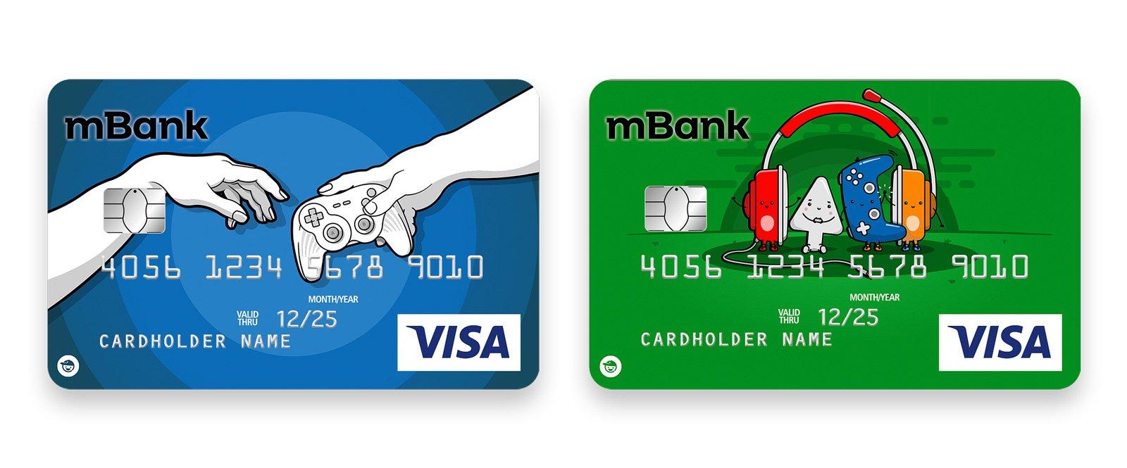 wzory kart mbank dla graczy