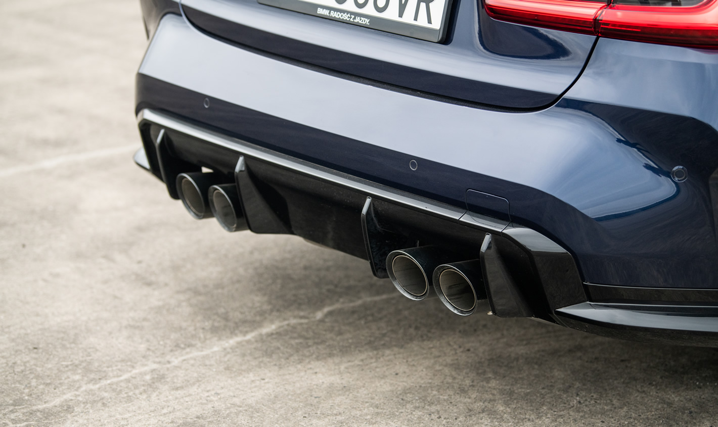 BMW M3 Competition - układ wydechowy