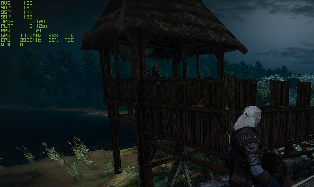 NVIDIA FrameView Wiedźmin 3