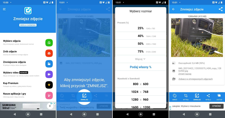 Jak zmniejszyć rozmiar zdjęcia na telefonie z Androidem