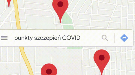 punkty szczepień covid mapy google