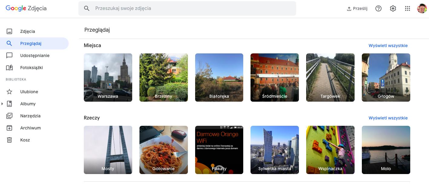 Google Zdjęcia pobieranie plików
