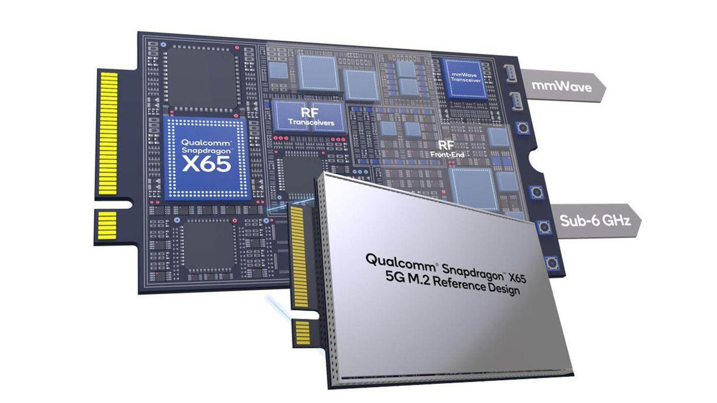 Qualcomm Snapdragon X65 modem 5G na slot M.2