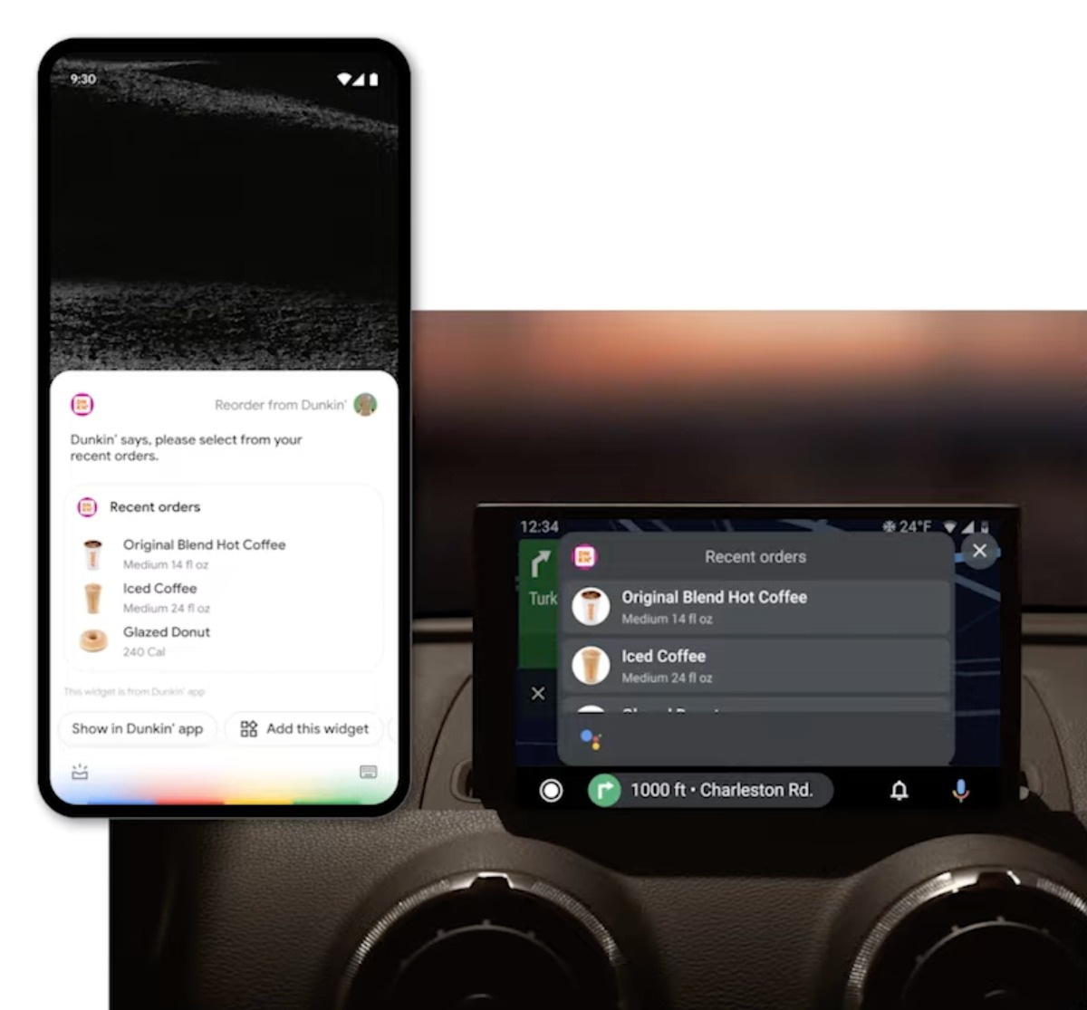 Android Auto z widgetami