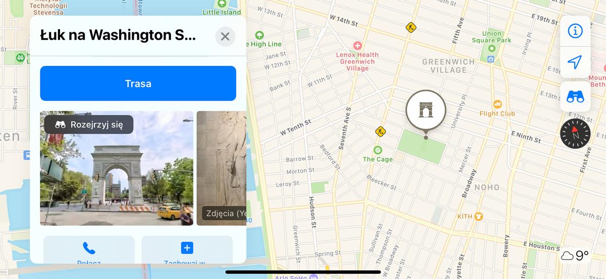 Mapy Apple w Nowym Jorku