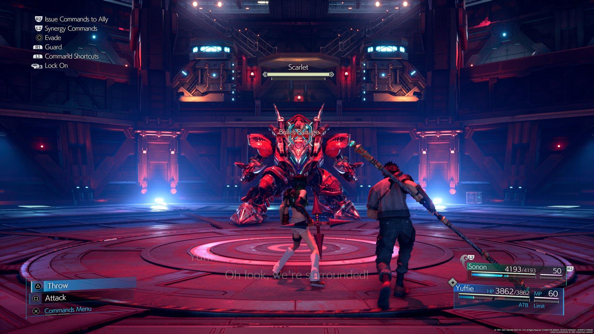zrzut ekranu z gry Final Fantasy 7 Remake Intergrade