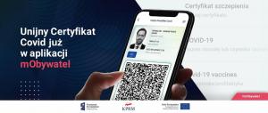 Unijny Certyfikat Covid dostępny już w aplikacji mObywatel i mojeIKP