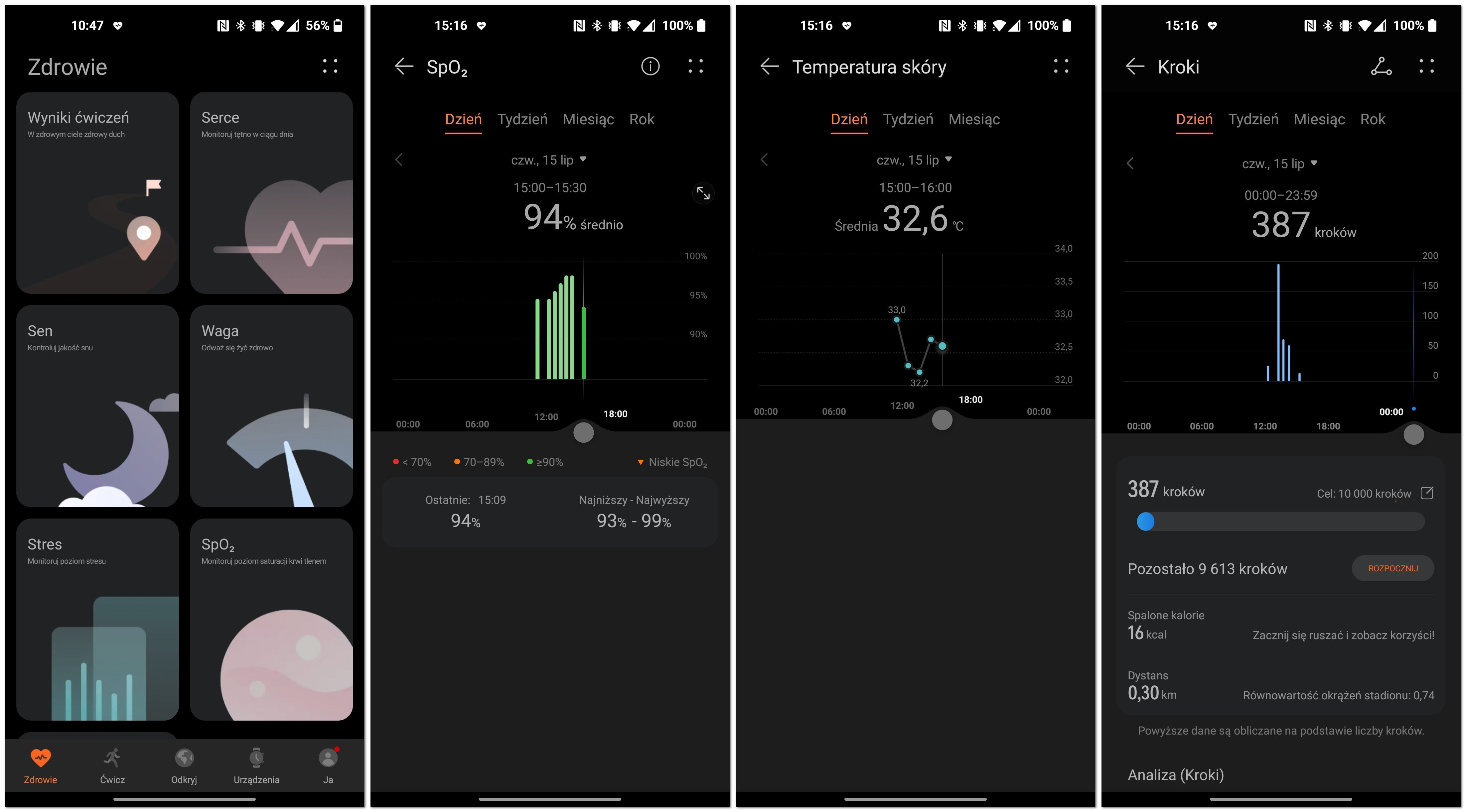 Huawei Watch 3 Pro physical activity